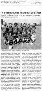 ARTICLE DE PRESSE U 13 A